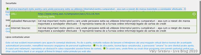 SafeAssign pentru lucrările de disertație și licență (2/2)