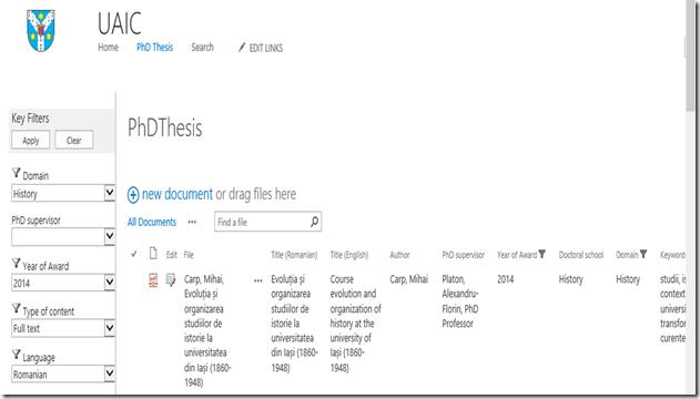 PhDSeries DB Filtering